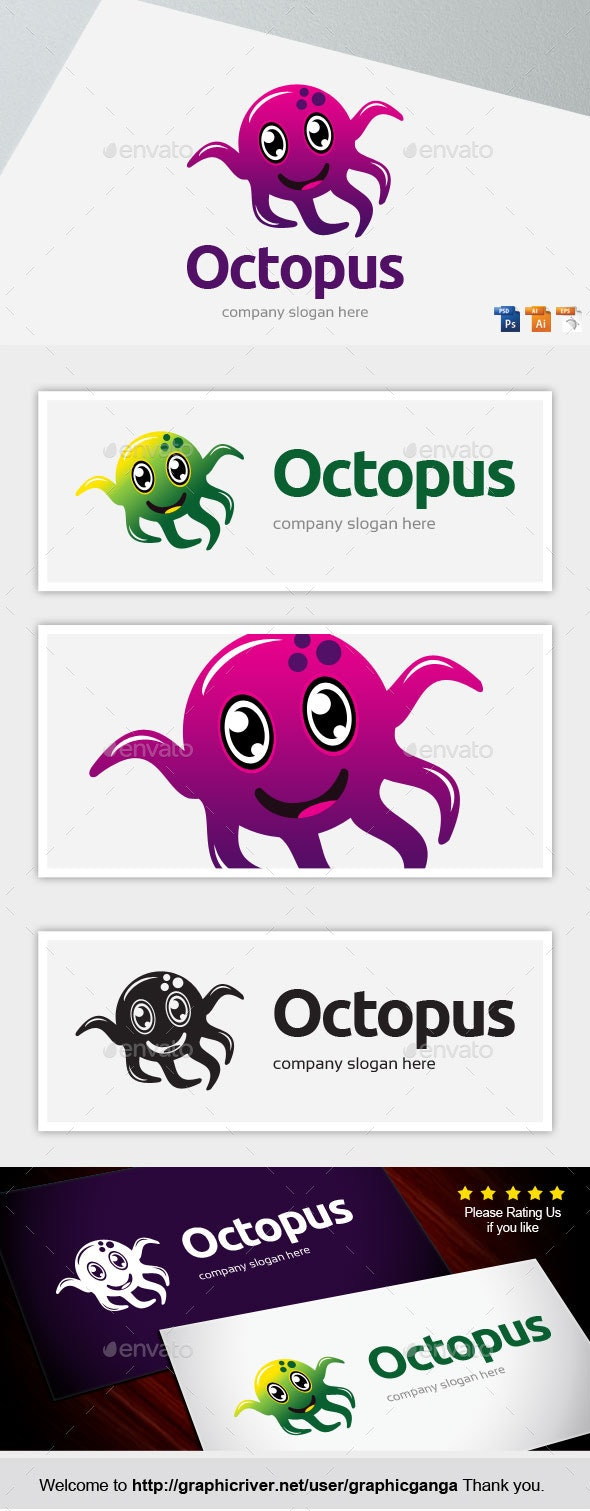Octopus - Animals Logo Templates