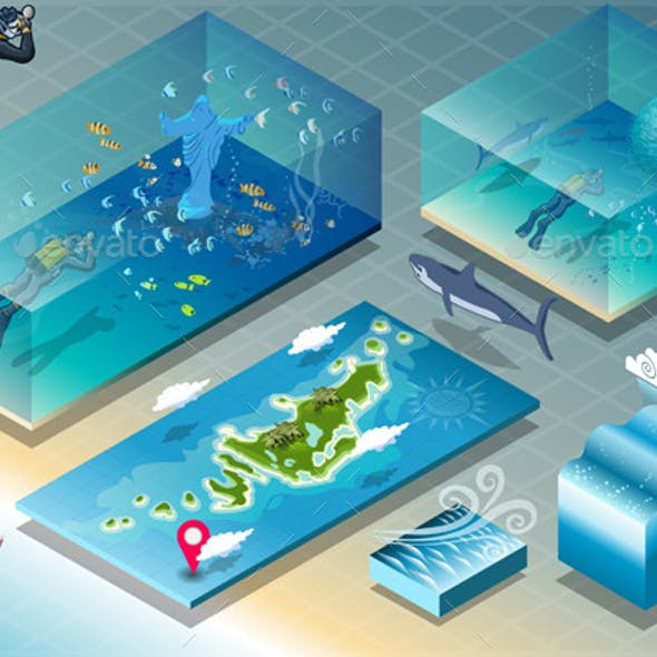 Isometric Tile of Carribean Diving Holidays