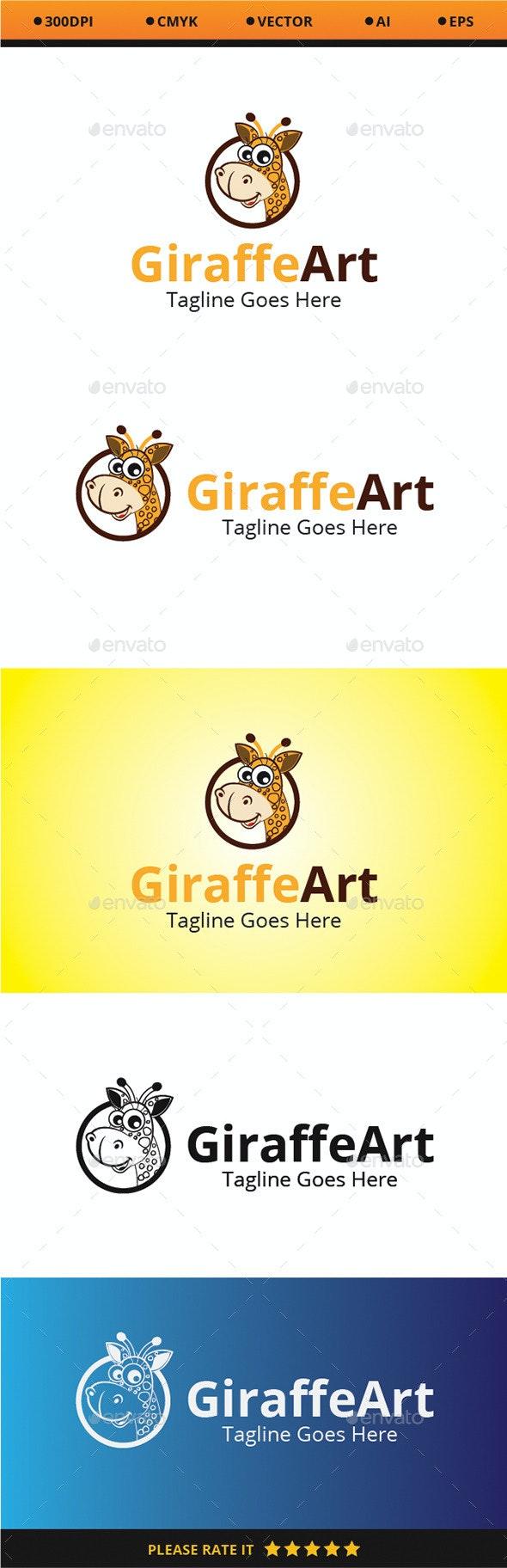 Giraffe Art - Animals Logo Templates