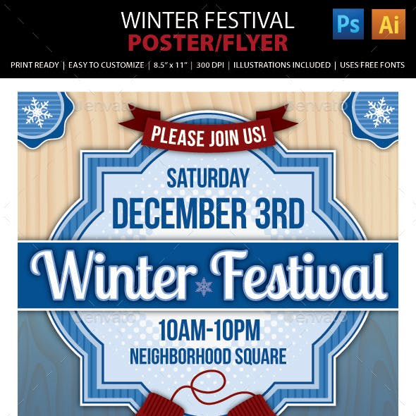 Winter Festival Poster or Flyer
