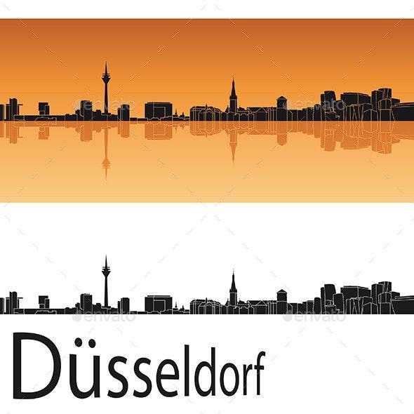 Düsseldorf Skyline - Buildings Objects