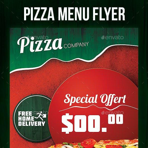 Pizza Menu Flyer