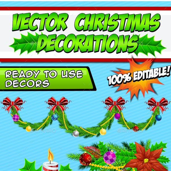 Vector Christmas Decorations - Create Your Own