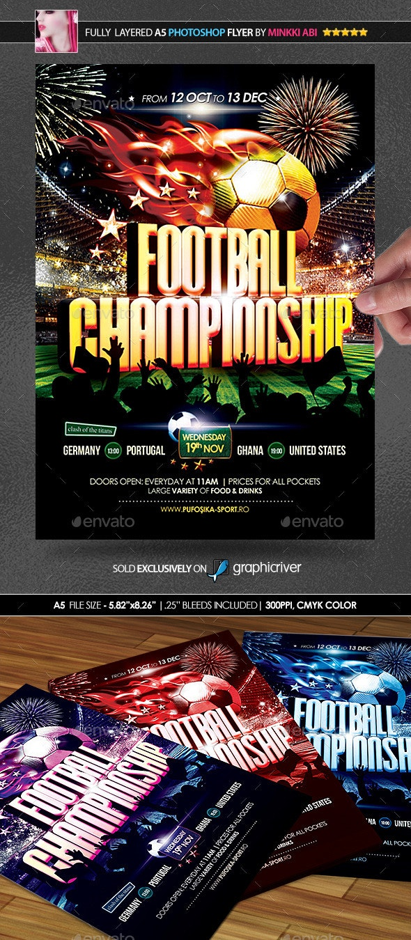 Football Championship Poster/Flyer - Sports Events