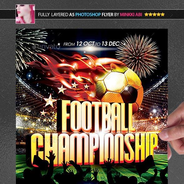 Football Championship Poster/Flyer