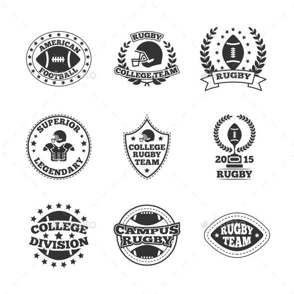 Baseball Labels Icons Set - Sports/Activity Conceptual
