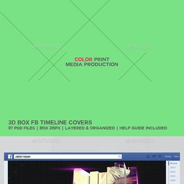 3D Box FB Timeline Cover