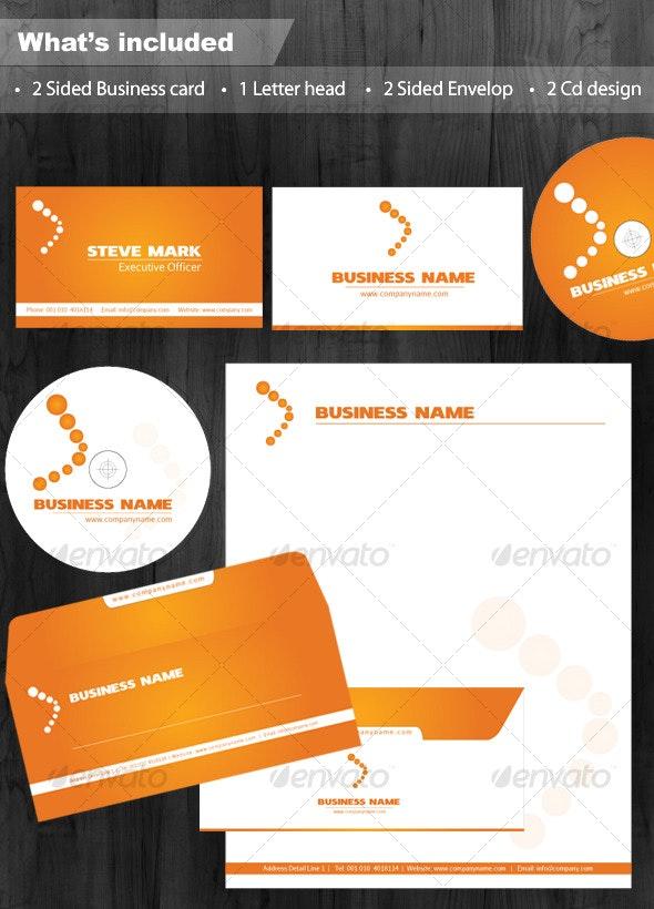 Clean Executive White & Orange Corporate Identity - Miscellaneous Print Templates