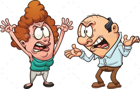 Couple Arguing - Characters Vectors