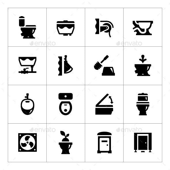 Set Icons of Toilet