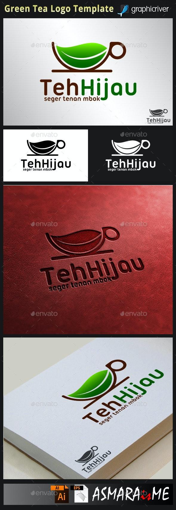 Green Tea - Healty Drink Logo - Food Logo Templates