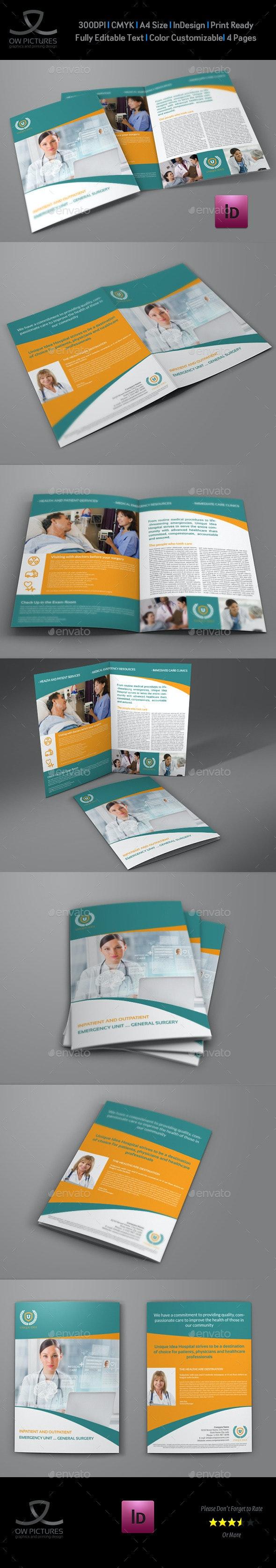 Hospital Bi-Fold Brochure Template Vol.2 - Informational Brochures