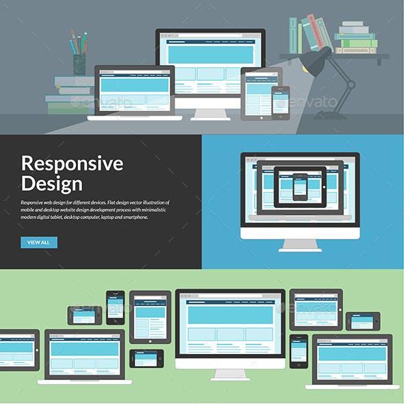 Flat Design Concepts for Responsive Web Design