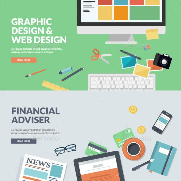 Flat Concepts for Web Development and Finance