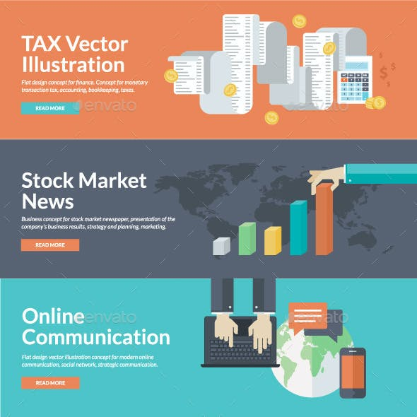 Flat Concepts for Marketing, Finance, Business