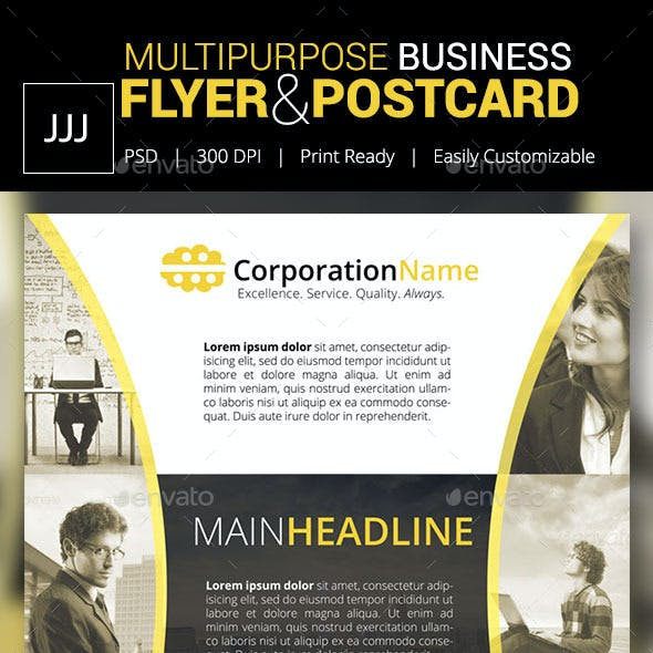 Business Flyer 43 with Postcard