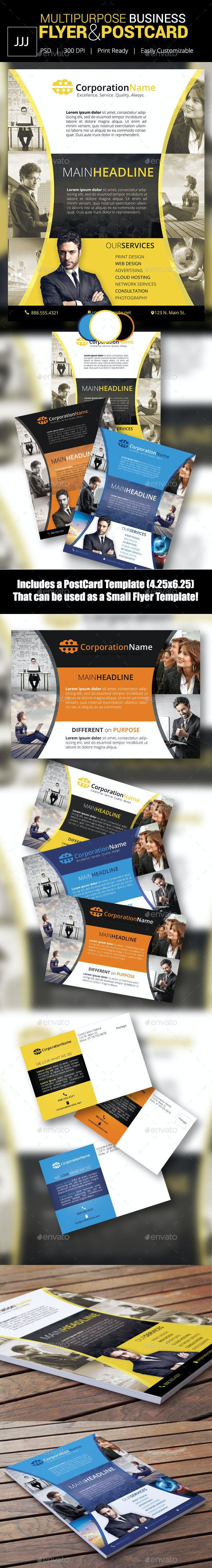 Business Flyer 43 with Postcard - Corporate Flyers