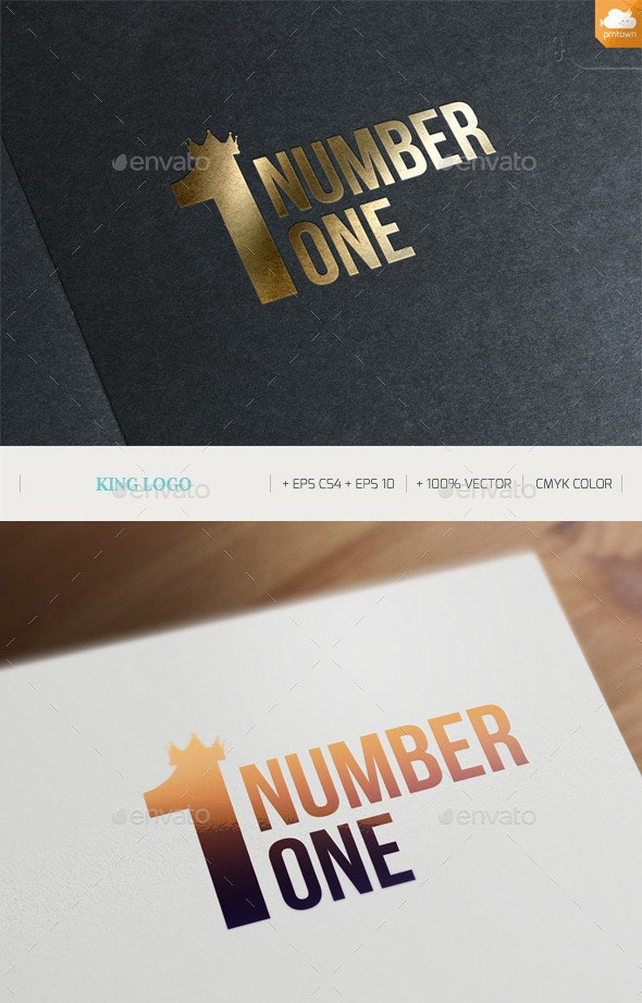 King logo - Numbers Logo Templates