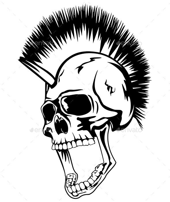 Head Punk Skull - Miscellaneous Characters