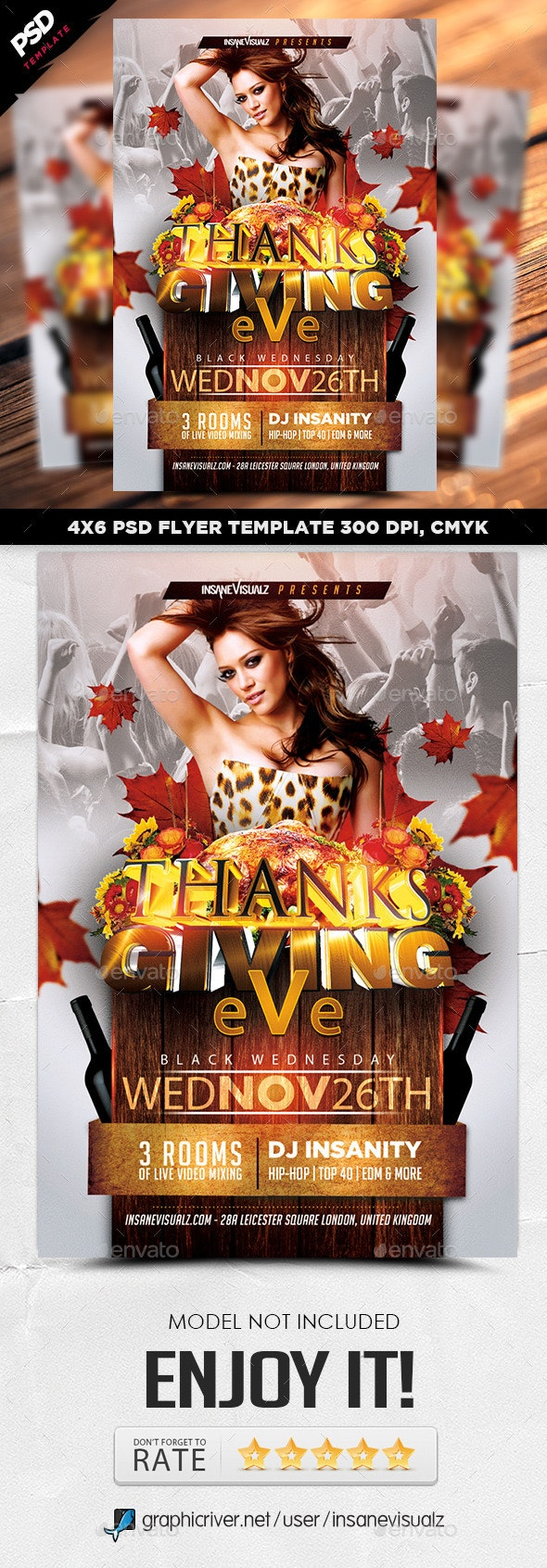 Thanksgiving Eve 2014 Flyer - Clubs & Parties Events