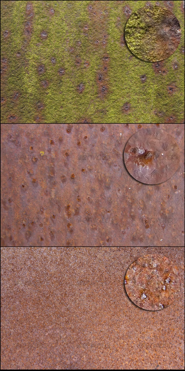 Rusty Mossy Metal Texture - Metal Textures