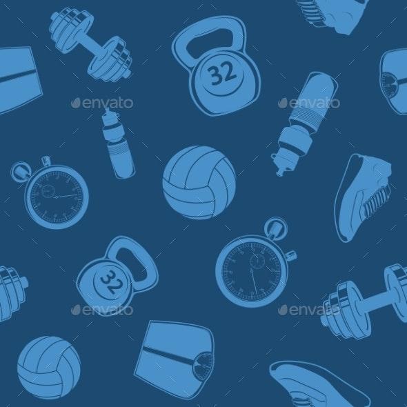 Sport Seamless Pattern. - Backgrounds Decorative
