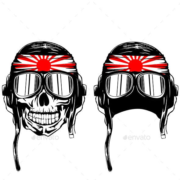 Skull Kamikaze in Helmet