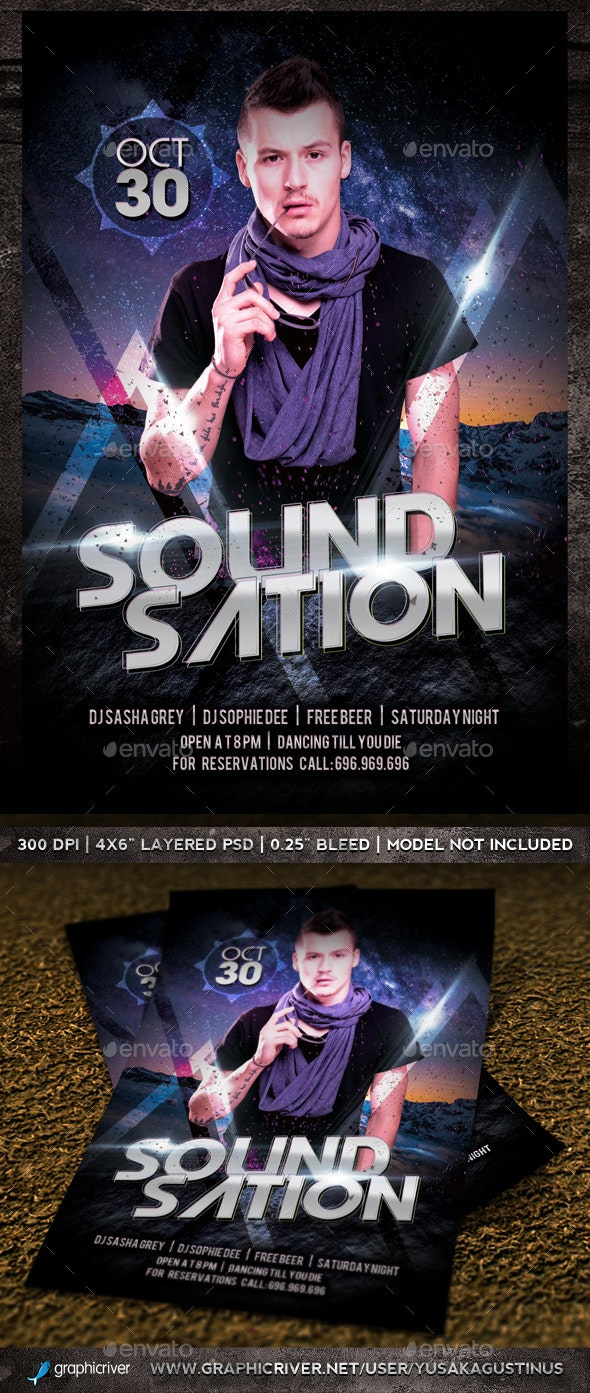 Soundsation Flyer - Clubs & Parties Events