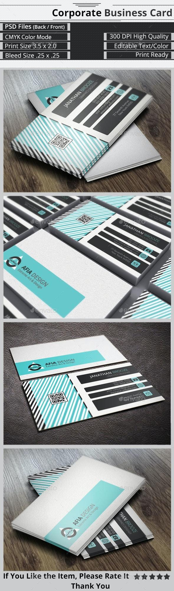 Smart & Creative  Corporate Business Card - Corporate Business Cards