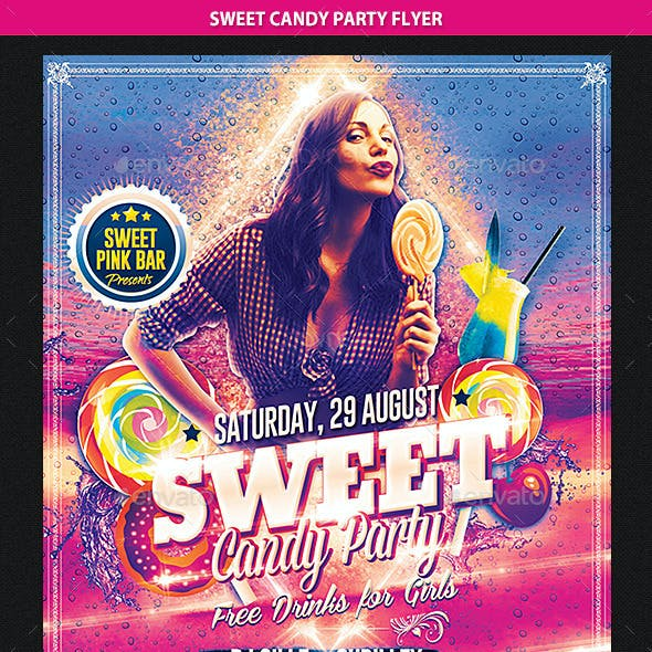 Sweet Candy Party Flyer