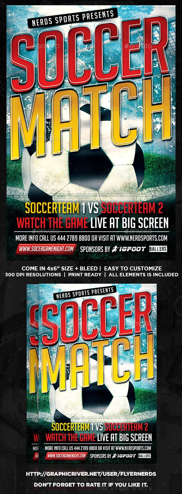 Kick Off Soccer Flyer - Sports Events