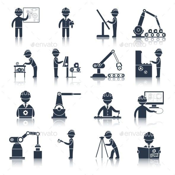 Engineering Icons Black