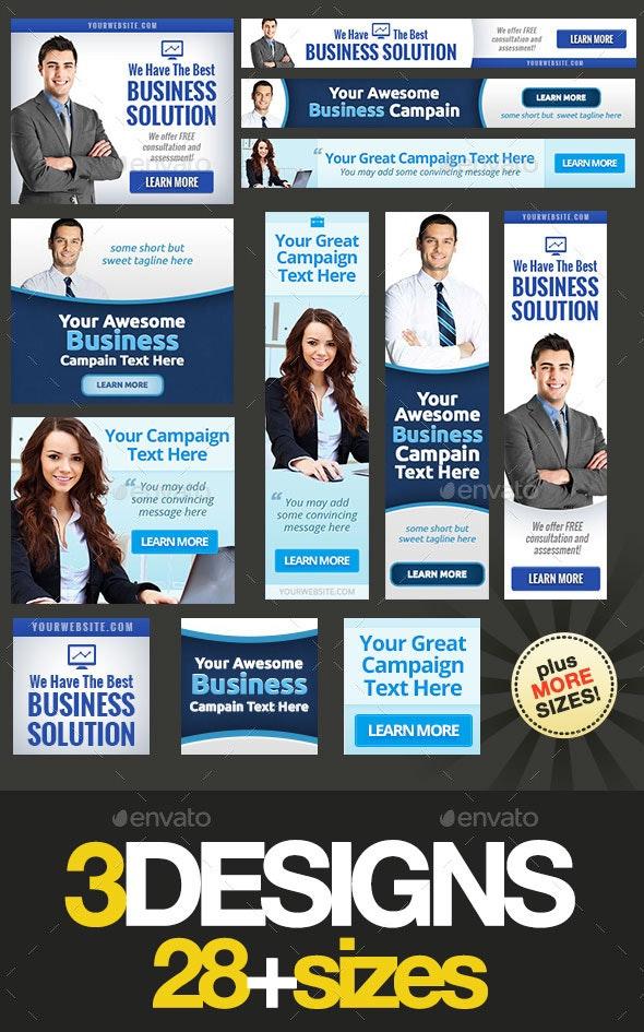 Corporate Web Banner Set Bundle 14 - Banners & Ads Web Elements