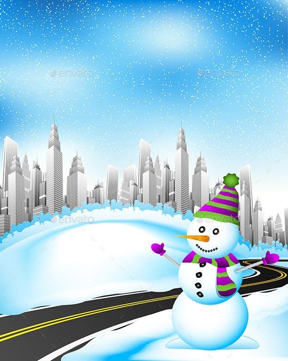 Winter Landscape - Seasons/Holidays Conceptual