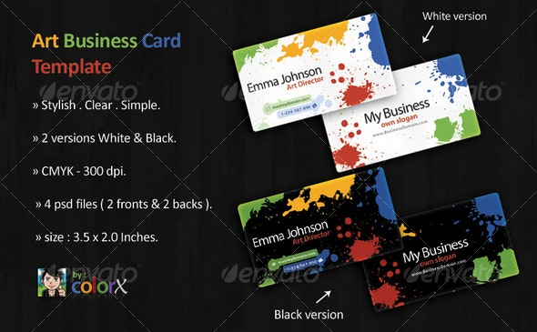 Art Business Card Template - Creative Business Cards