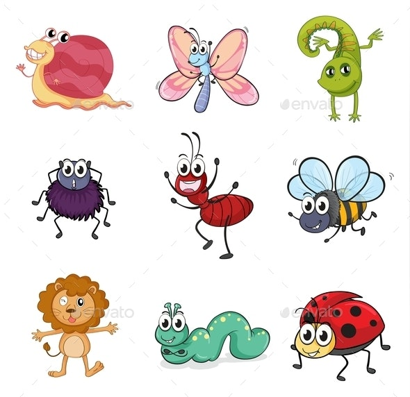 Colorful Creatures - Animals Characters