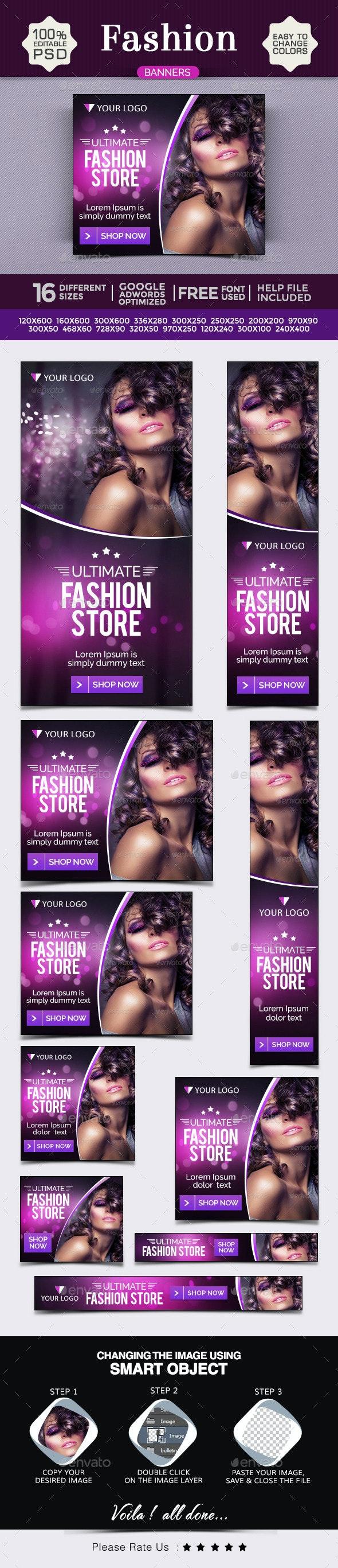 Fashion Banner Design Set - Banners & Ads Web Elements