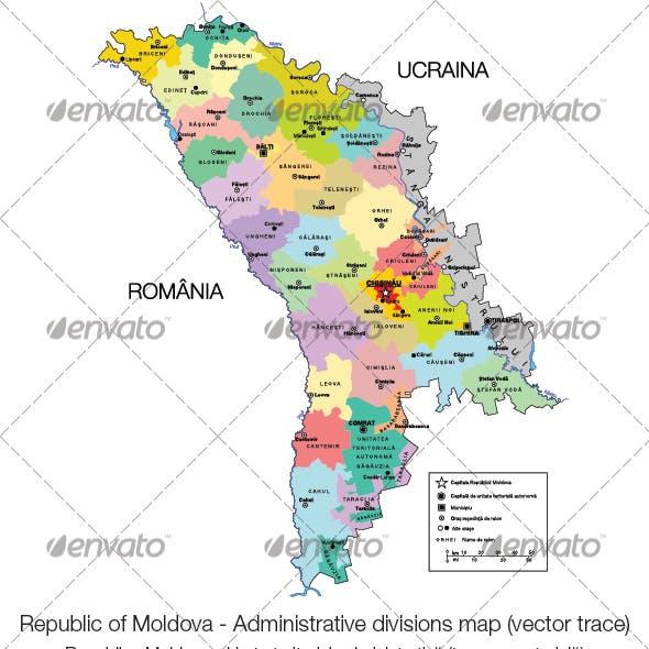 Republic of Moldova - Administrative Divisions
