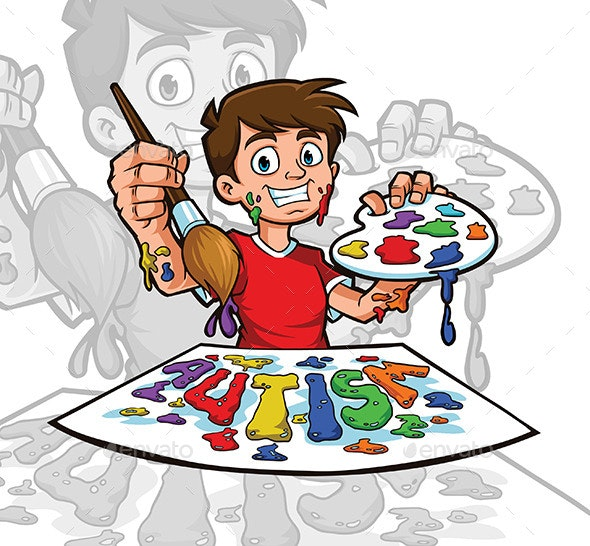 Autism Illustration - People Characters