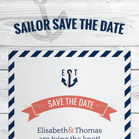 Sailor Marine Save The Date