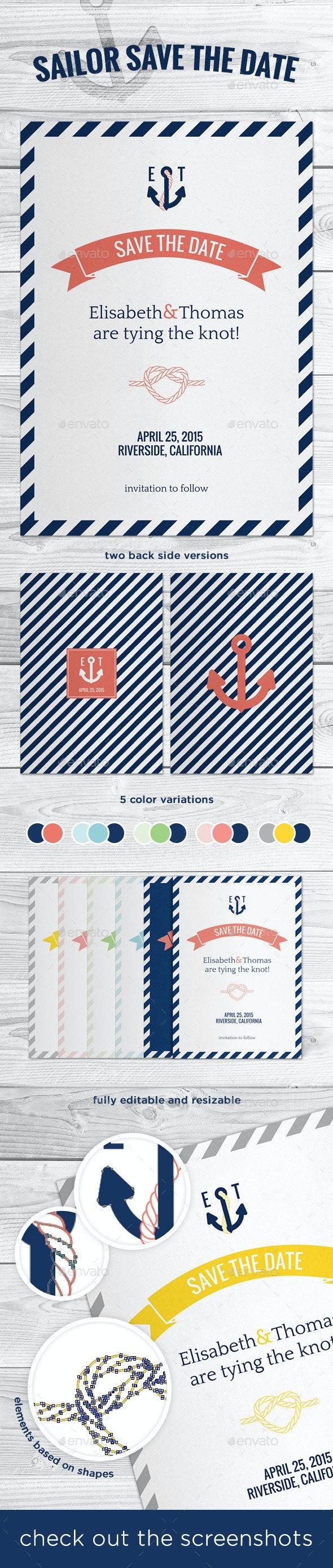 Sailor Marine Save The Date - Weddings Cards & Invites