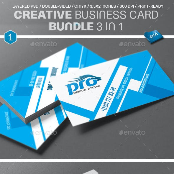 Creative Business Card Bundle 3 in 1