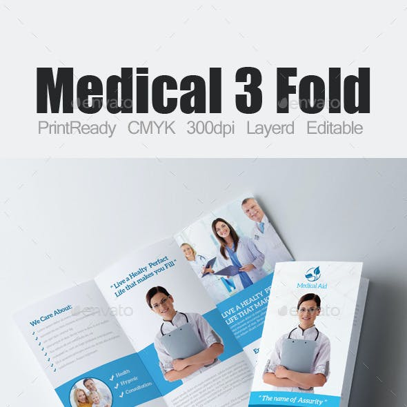 Tri Fold Fitness and Health Care Bundle