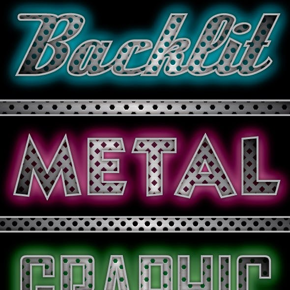 Backlit Metal Graphic Styles