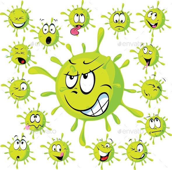 Virus Set - Monsters Characters