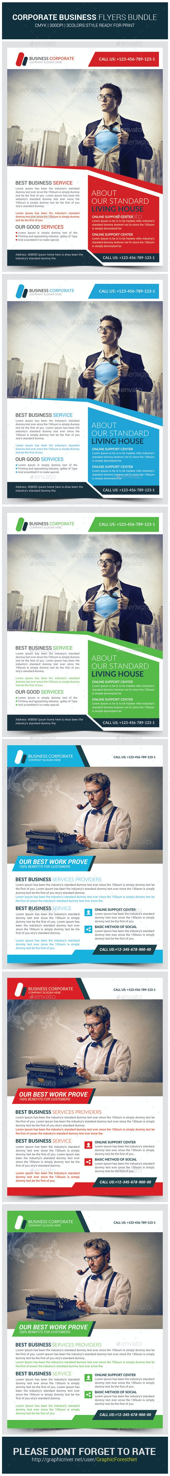 Business Promotion Corporate Flyers Bundle - Corporate Flyers
