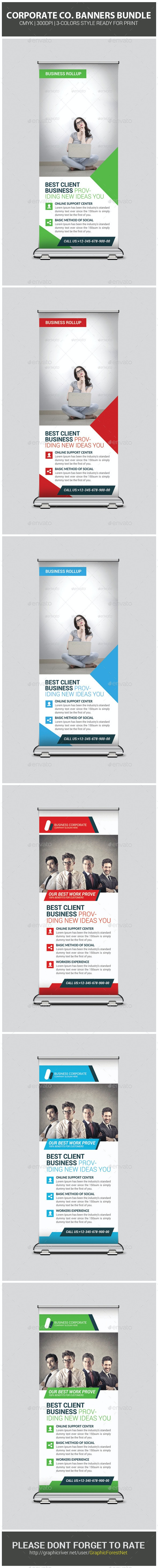 Corporate Business Banners Bundle - Signage Print Templates