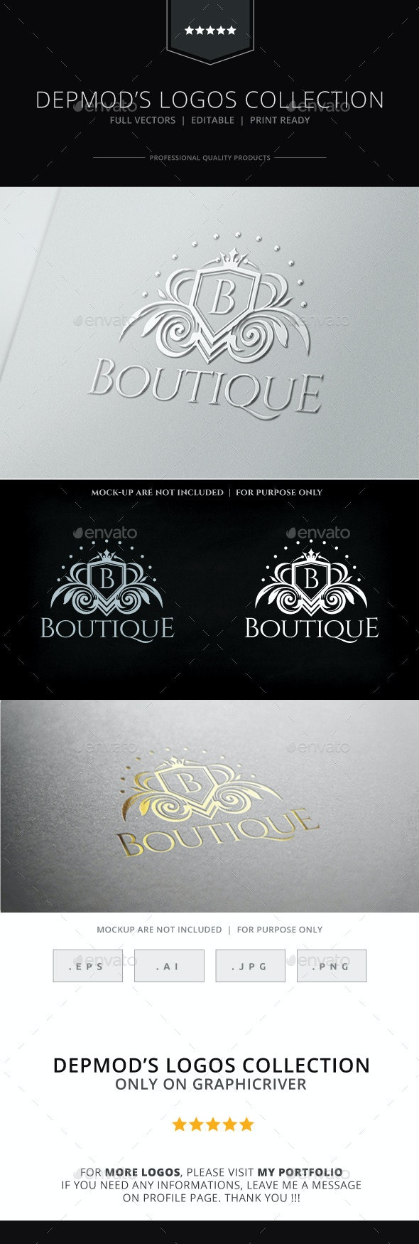 Boutique Logo - Crests Logo Templates