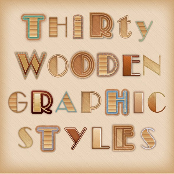 Wooden Graphic Styles