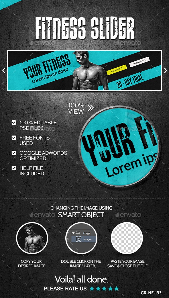 Fitness & Gym Slider - Sliders & Features Web Elements